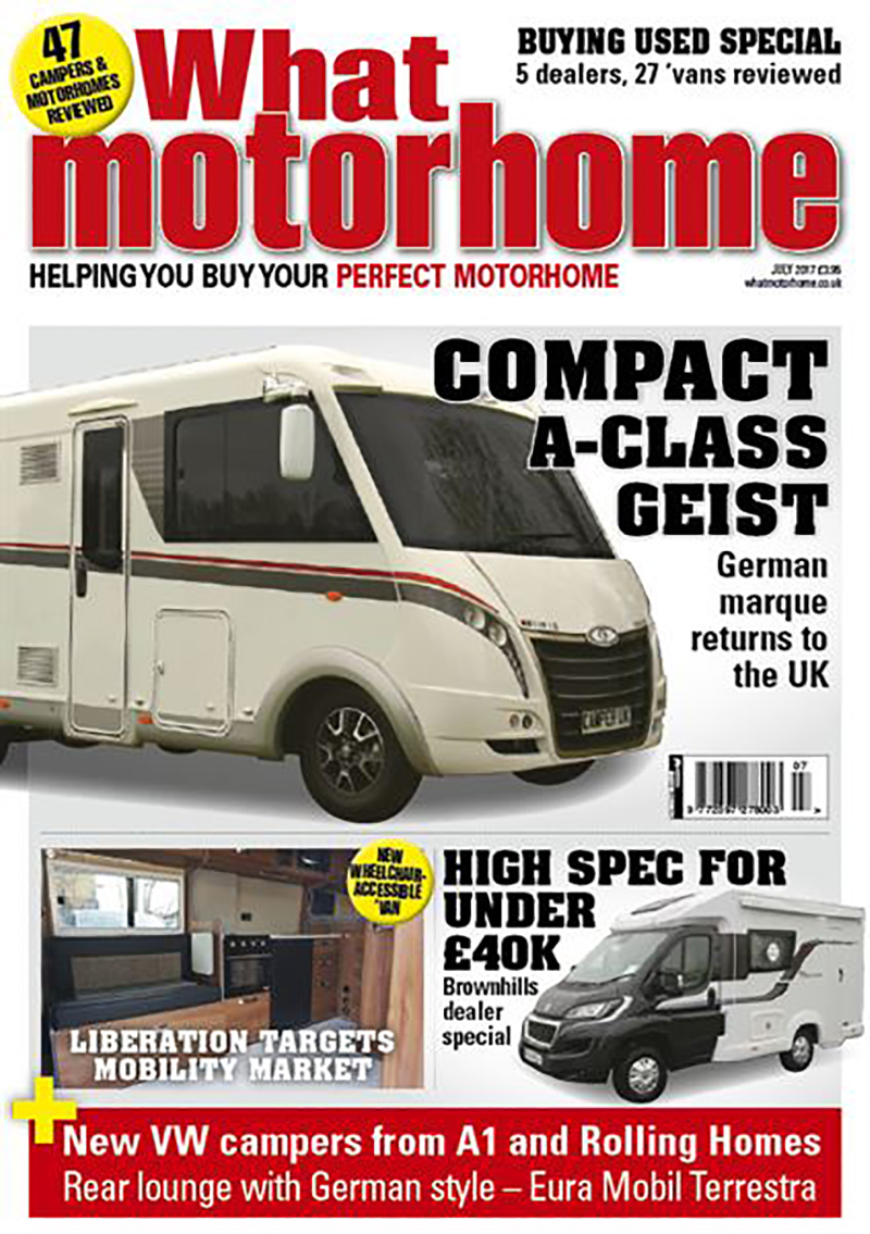 Liberation What Motorhome Magazine Cover
