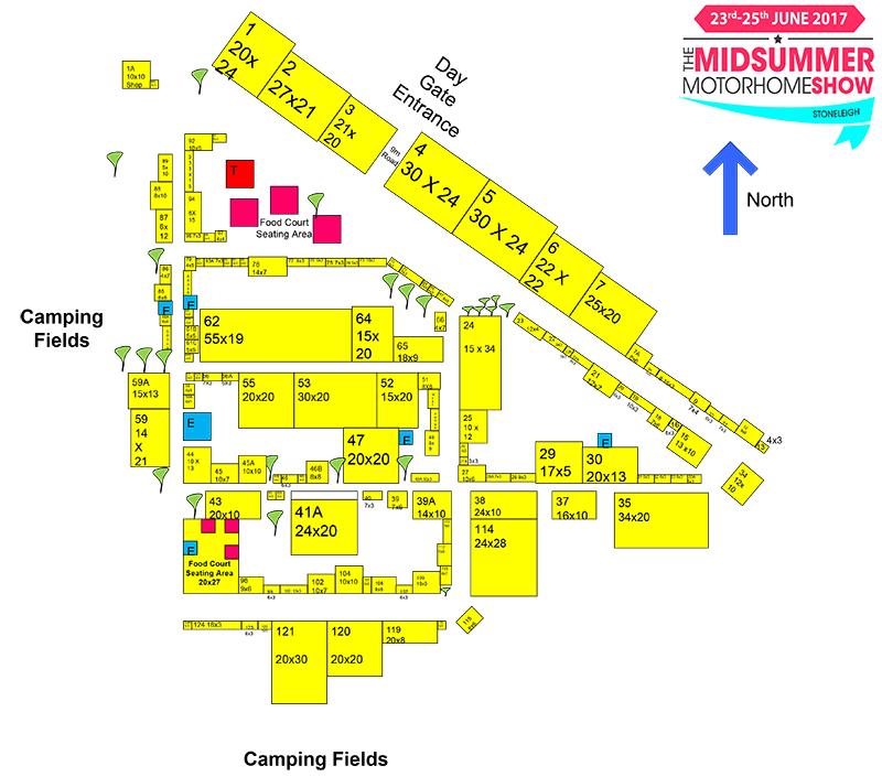 Stoneleigh Motorhome Show Map
