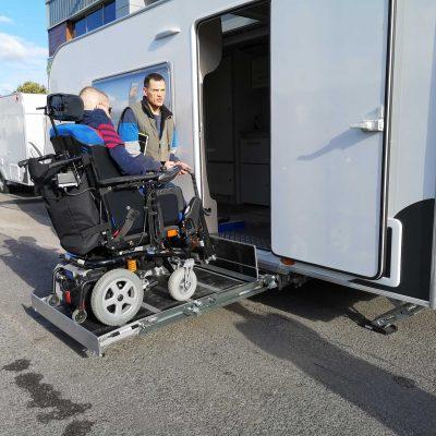 Caravan Lift Handover