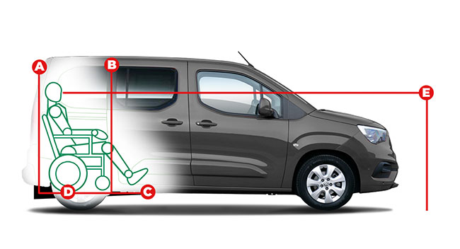 Vauxhall Combo Life Lowered Floor Access Dimensions