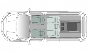 Vauxhall Combo XL Seating Plan