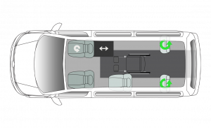 Volkswagen Caravelle Centro IT SWB Seating Plan
