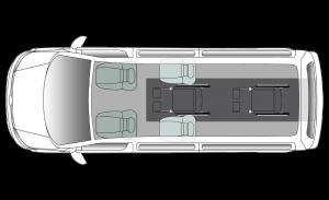 Volkswagen Caravelle Centro LWB Seating Plan