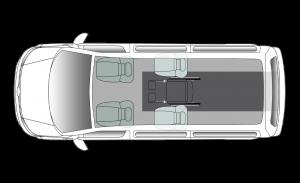Volkswagen Caravelle Centro SWB Seating Plan