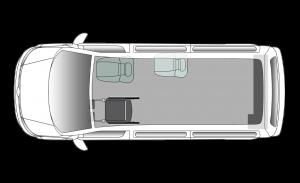 Volkswagen Caravelle Upfront SWB Seating Plan