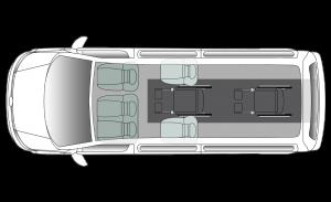 Volkswagen Shuttle Centro LWB Seating Plan