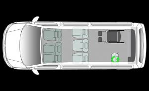Volkswagen Shuttle RTL LWB Seating Plan