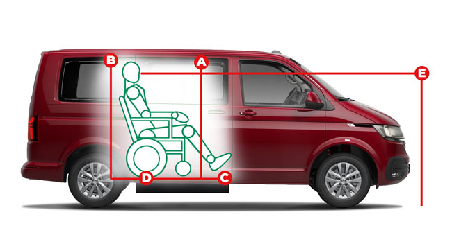 Volkswagen Caravelle Side Entry Access Dimensions