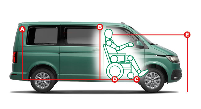 Volkswagen Caravelle Upfront Access Dimensions