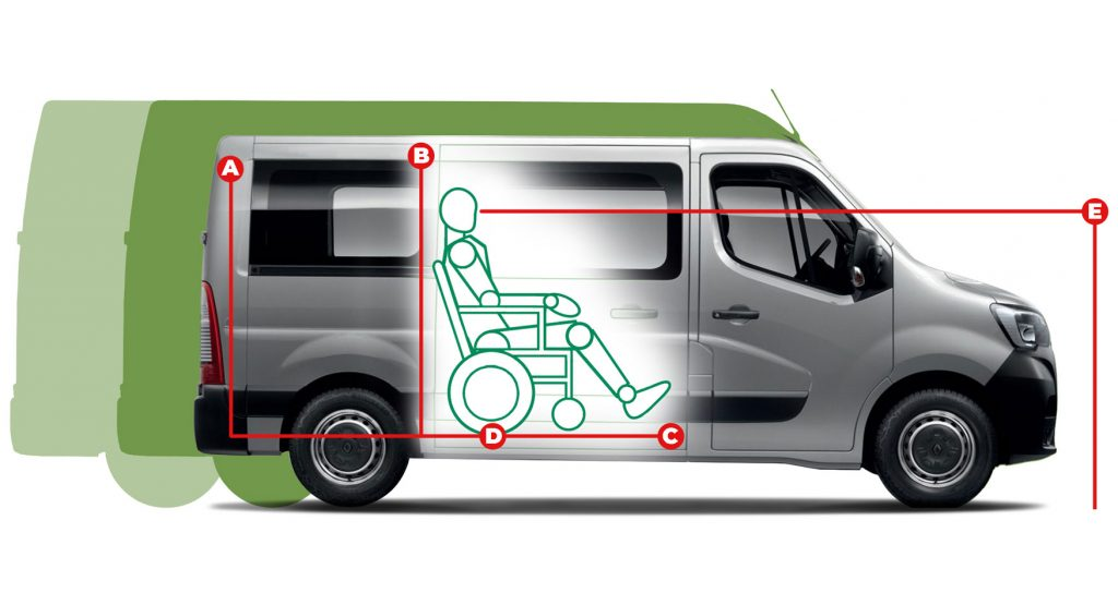 Renault Master Rear Lift Access Dimensions